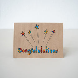 Congratulations Card - Kenyan materials and design for a fair trade boutique