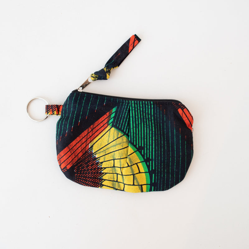 Pleated African Coin Purse - Kenyan materials and design for a fair trade boutique