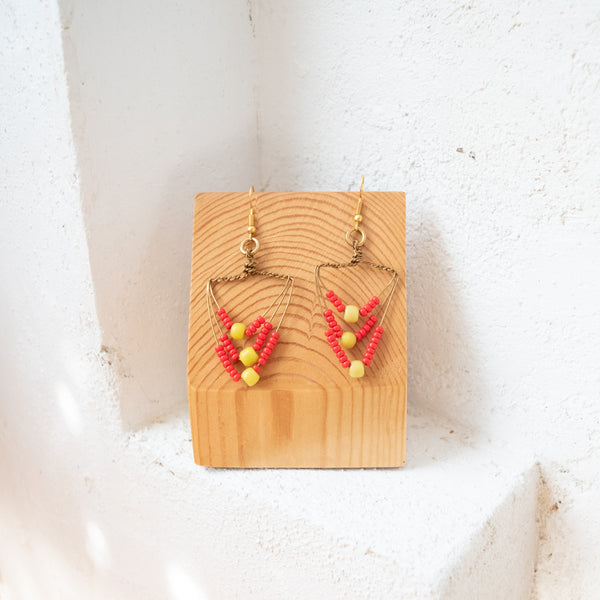 Beaded Chevron Earrings - Kenyan materials and design for a fair trade boutique