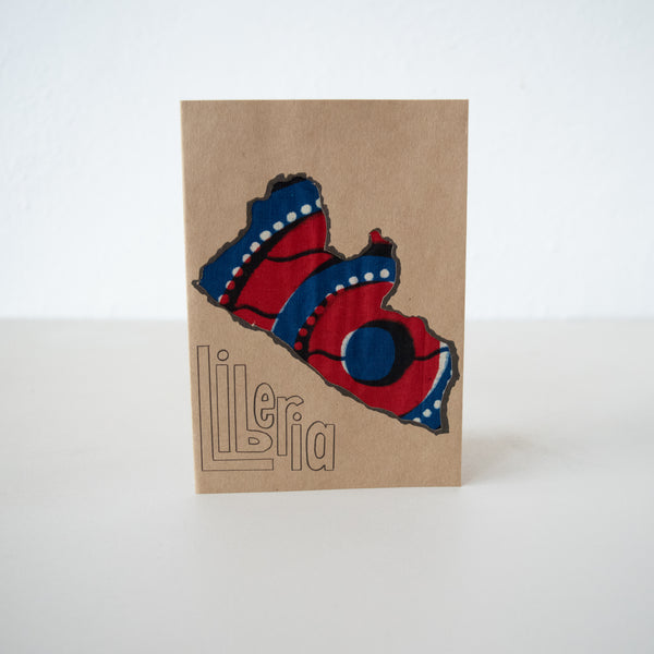Liberia Card - Kenyan materials and design for a fair trade boutique