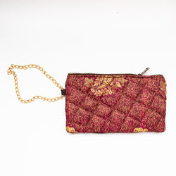 Velvet Wristlet - Kenyan materials and design for a fair trade boutique
