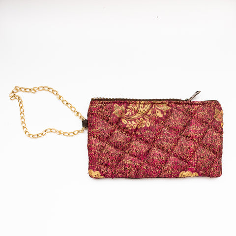 velvet clutch, wristlet for women