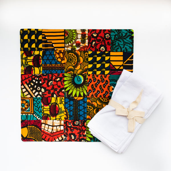 Original Patch Placemats - Kenyan materials and design for a fair trade boutique