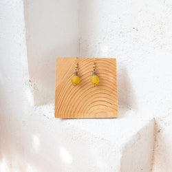 Bottle Bead Earrings - Kenyan materials and design for a fair trade boutique