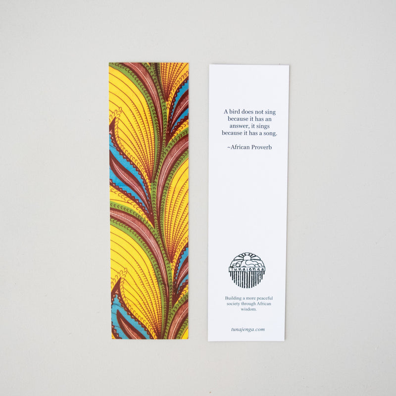 African Print Bookmark - Kenyan materials and design for a fair trade boutique