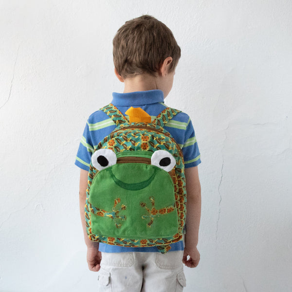 Froggy Backpack - Kenyan materials and design for a fair trade boutique