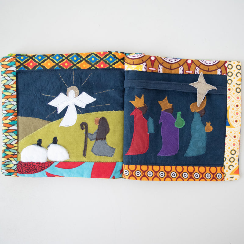 Nativity Book - Kenyan materials and design for a fair trade boutique