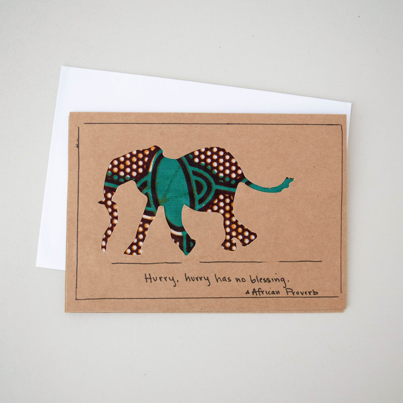 Elephant Card - Kenyan materials and design for a fair trade boutique