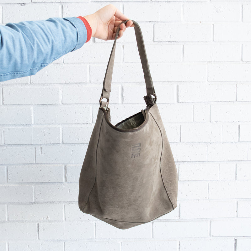 Leather Bucket Bag - Kenyan materials and design for a fair trade boutique