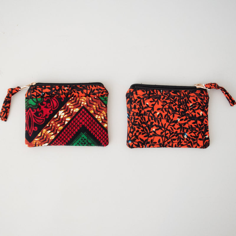 Kitenge Coin Purse - Kenyan materials and design for a fair trade boutique
