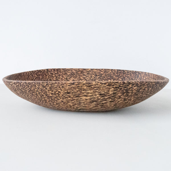 Palm Wood Oval Bowl