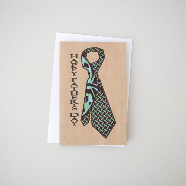 Father's Day Card - Kenyan materials and design for a fair trade boutique
