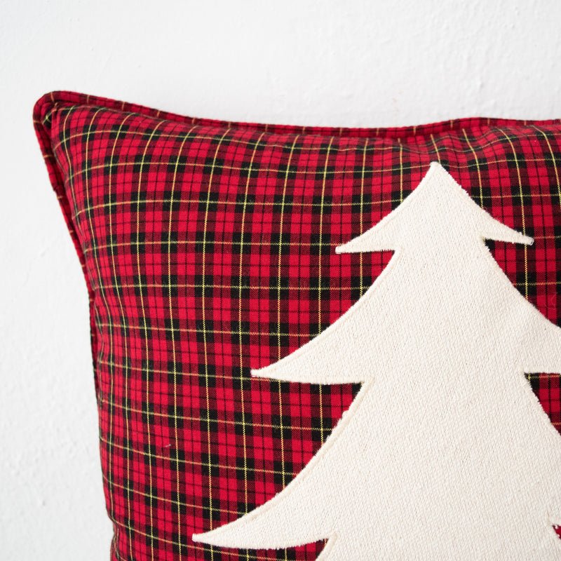 Maasai Christmas Tree Pillow - Kenyan materials and design for a fair trade boutique