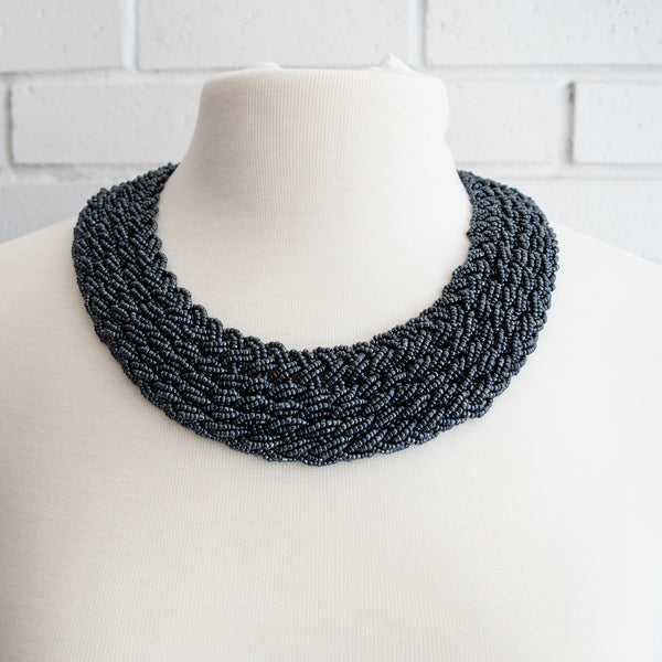 Braided Bead Collar - Kenyan materials and design for a fair trade boutique