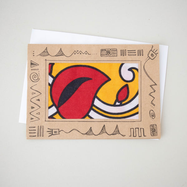 Kanga Frame Card - Kenyan materials and design for a fair trade boutique