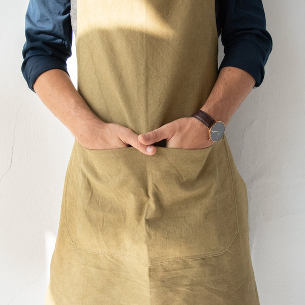 Canvas & Leather Apron - Kenyan materials and design for a fair trade boutique