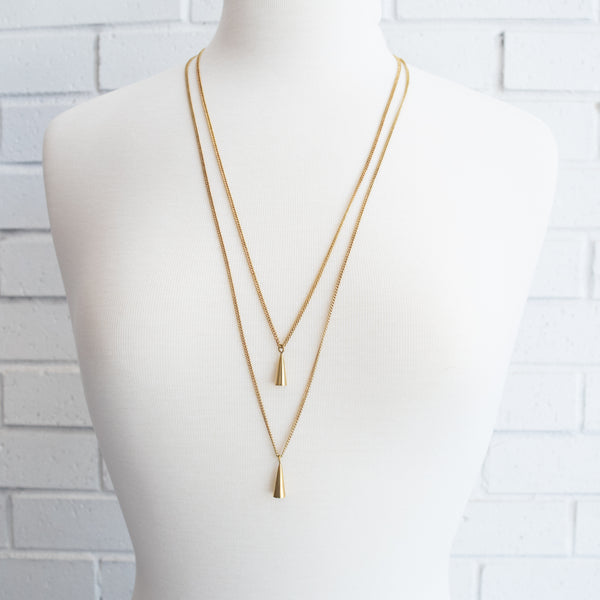 Double Cone Necklace - Kenyan materials and design for a fair trade boutique