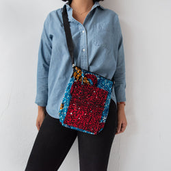 Mini Messenger Bag - Kenyan materials and design for a fair trade boutique