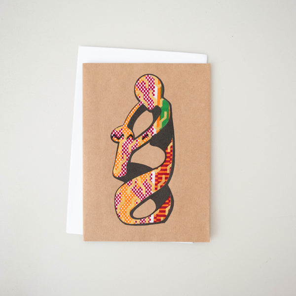 Loving Mother Card - Kenyan materials and design for a fair trade boutique