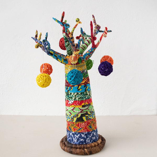 Christmas Baobab Tree - Kenyan materials and design for a fair trade boutique
