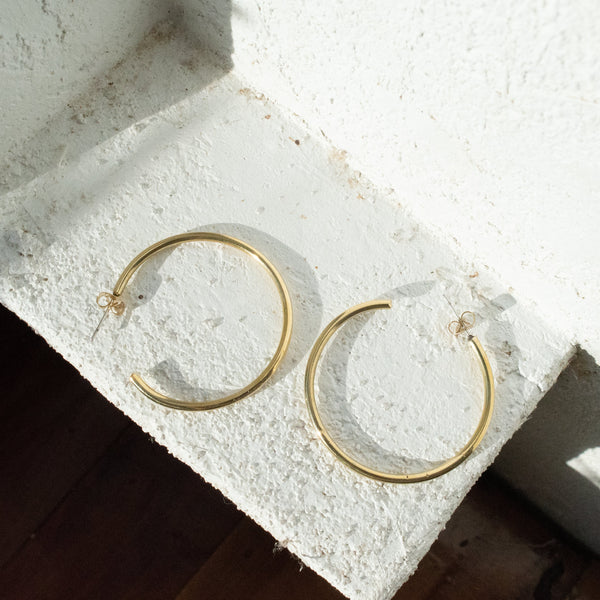 Classic Hoop Earrings - Kenyan materials and design for a fair trade boutique