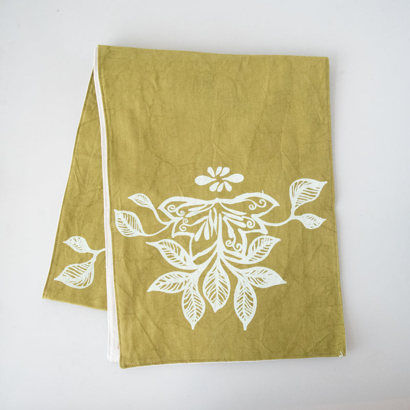 Table Runner | Screen Print - Kenyan materials and design for a fair trade boutique