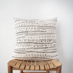 Mud Cloth Strip Pillow - Kenyan materials and design for a fair trade boutique
