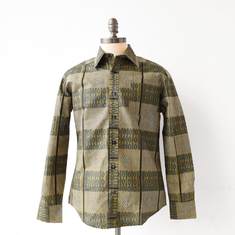 Kitenge Button-Down Shirt - Kenyan materials and design for a fair trade boutique