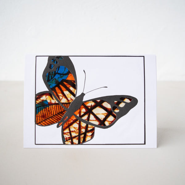 Butterfly Card - Kenyan materials and design for a fair trade boutique