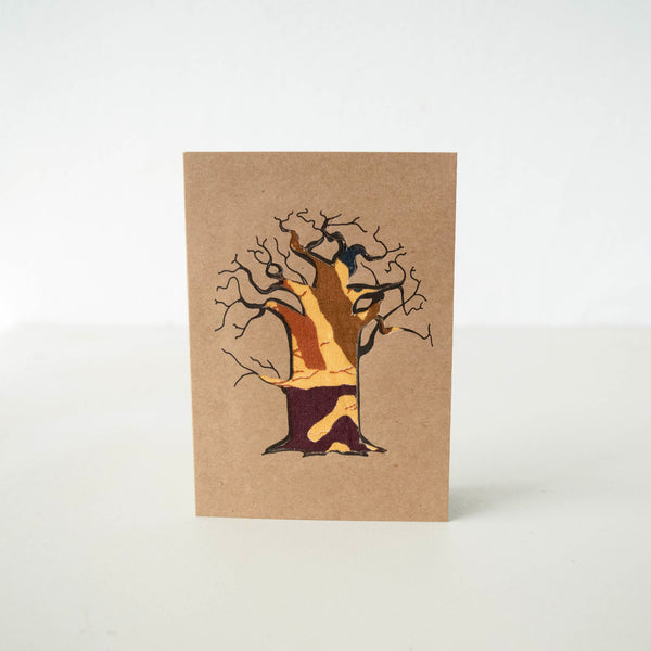 Baobab Tree Card - Kenyan materials and design for a fair trade boutique