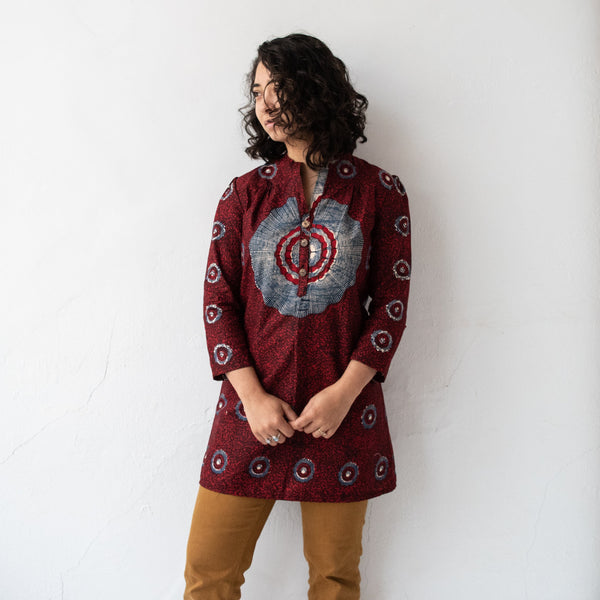 Jua Tunic - Size 2 - Kenyan materials and design for a fair trade boutique