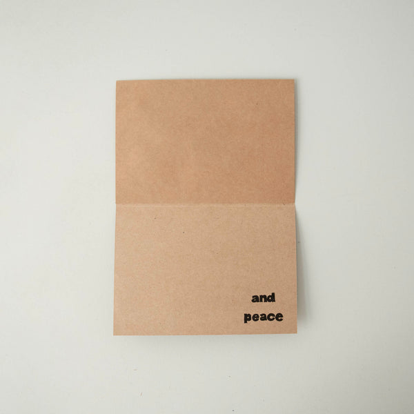 Christmas Joy & Peace Card - Kenyan materials and design for a fair trade boutique