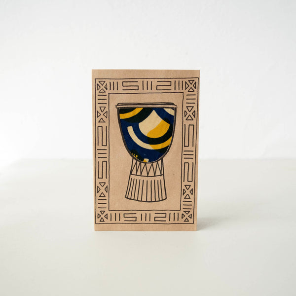 African Drum Card - Kenyan materials and design for a fair trade boutique