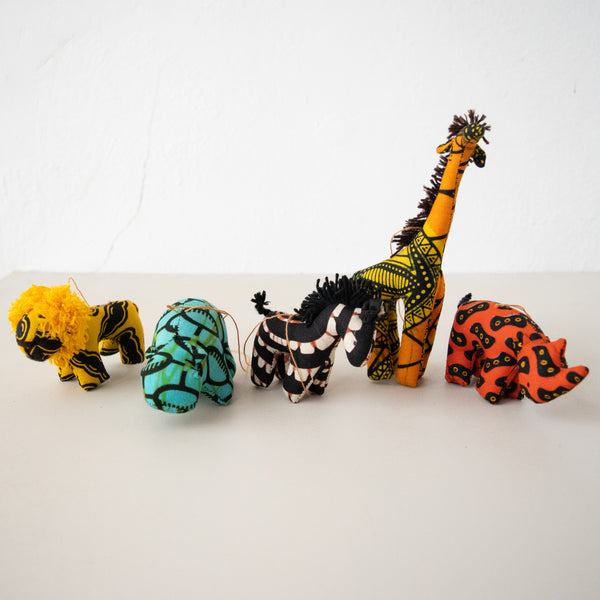 Plush Animal Ornaments - Kenyan materials and design for a fair trade boutique