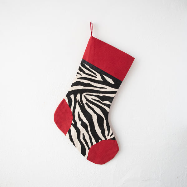 Zebra Stocking - Kenyan materials and design for a fair trade boutique