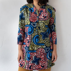 Mawimbi Tunic - Size 4 - Kenyan materials and design for a fair trade boutique