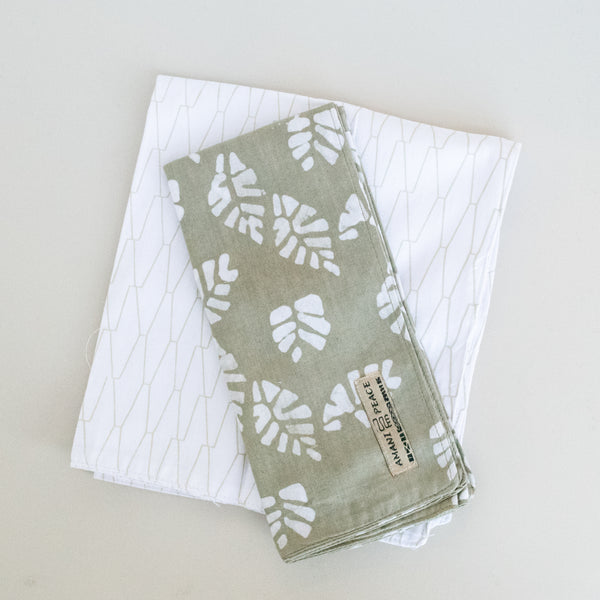 Tea Towel Set | Batik/Screen Print Combo - Kenyan materials and design for a fair trade boutique