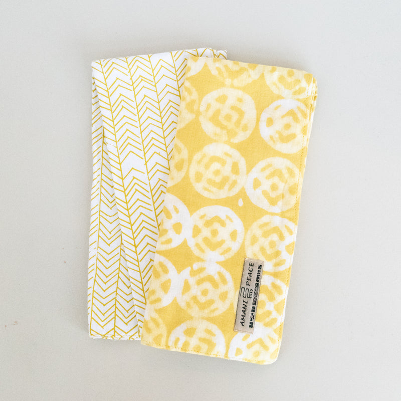 Tea Towel Set of 2 :: Batik/Screen Print Combo - Kenyan materials and design for a fair trade boutique