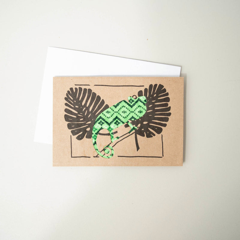 Chameleon Card - Kenyan materials and design for a fair trade boutique