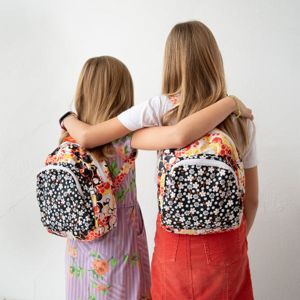 Little Girl's Backpack - Kenyan materials and design for a fair trade boutique