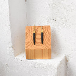 Horn Tooth Earrings - Kenyan materials and design for a fair trade boutique