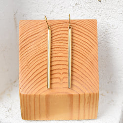 Brass Tube Earrings - Kenyan materials and design for a fair trade boutique