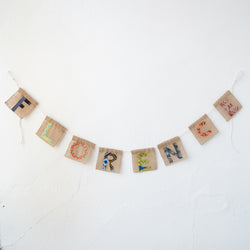 Alphabet Letters - Kenyan materials and design for a fair trade boutique