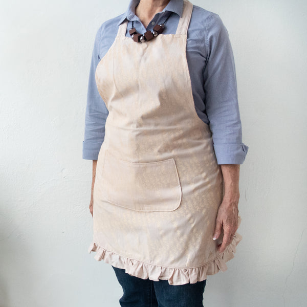 Full Apron | Heather Coffee Berries - Kenyan materials and design for a fair trade boutique