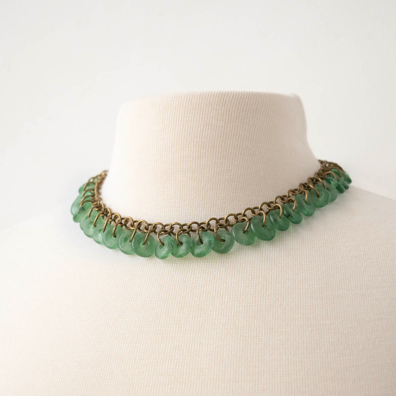 Glass Lace Necklace