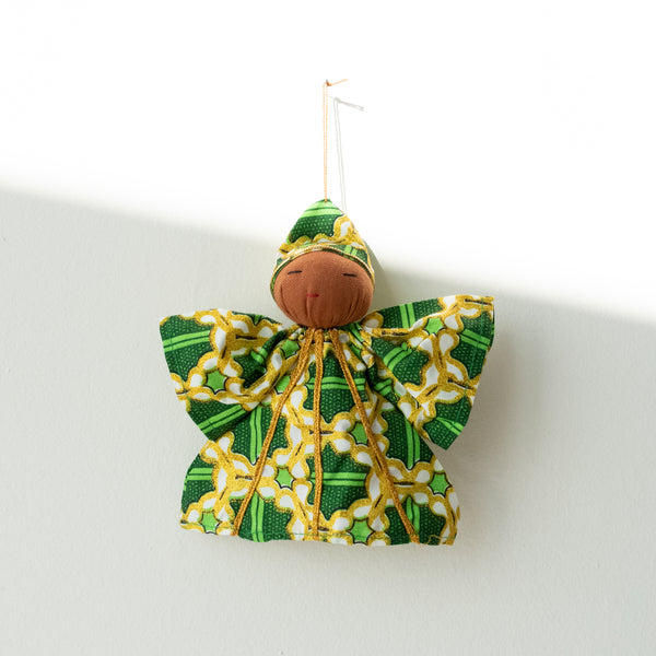 Kitenge Peace Angel Ornament