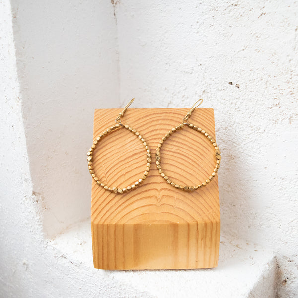 Hoop Earrings - Kenyan materials and design for a fair trade boutique