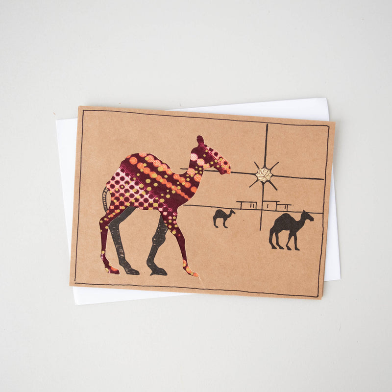 Christmas Camel Card