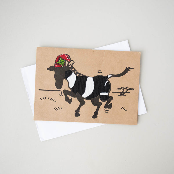 Christmas Jolly Zebra Card