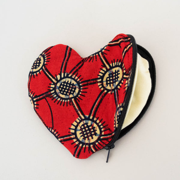 Heart Change Purse - Kenyan materials and design for a fair trade boutique